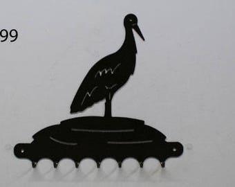 Key grip metal pattern: Stork