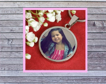 Personalize This Necklace & Pendant with your loved one's picture