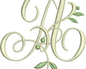 Instand download  Monogram A embroidery design