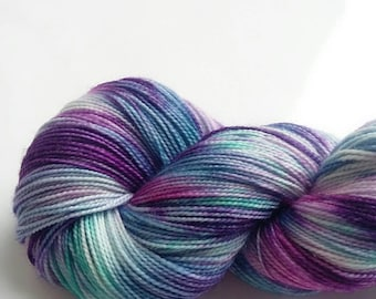 Sparkle Sock 4 ply Hand Dyed Yarn  Merino Wool Nylon 4 Ply Stellina Sock Wool Knitting Yarn -  Twilight Sparkle