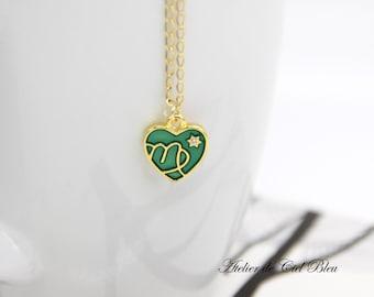Virgo Necklace, Virgo Charm, Enamel Virgo Charm Necklace, Gold Virgo Necklace, Virgo Pendant, Horoscope Zodiac Jewelry