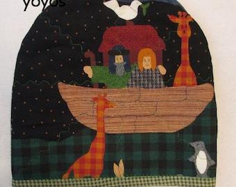TEA COZY, MAT, Noah's Ark Theme, Table Décor,  Gift Item,  Teacher Gift