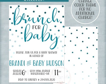 Brunch for Baby - Baby Shower Invitation Set