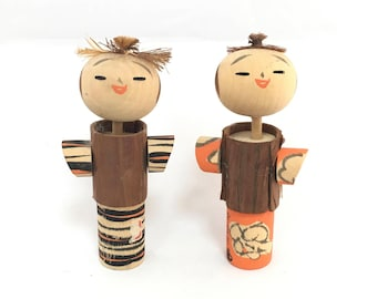 Kokeshi Doll Vintage, Kokeshi Doll, Wooden Doll, Kawaii Japanese Doll, Antique Kokeshi Doll, Antique Doll, Japanese Doll, Asian Decor
