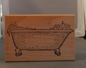 Bath Tub Rubber stamp