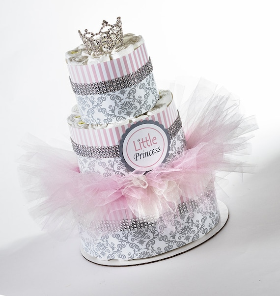 Diaper Cake - Diaper Cakes - Little Princess - Baby Gift  - Baby Shower Gift - Baby Tutu - Princess Baby Shower - Princess Diaper Cake