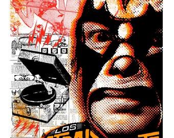 Los Straightjackets Screenprinted Poster