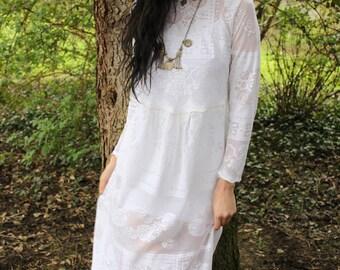 Lace Dress, Bridal dress, boho chic, boho clothes women, wedding dress, lace maxidress, long sleeve, bohemian dress, long lace dress, bridal