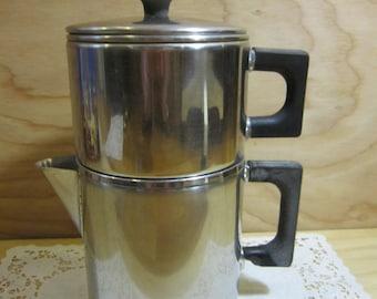 Vintage Vollrath Lo-Heet Stainless Steel Stovetop Drip Coffee Pot