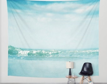 Ocean  Tapestry. Home Decor. Large Size Wall Art tapestry, dreamy tapestry mint decor abstract nursery decor mint sea blue
