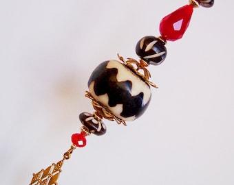 Little Drummer Boy Christmas Ornament, Christmas Gift, Gift for Him, Victorian Christmas, Chocolate Cream African Batik,