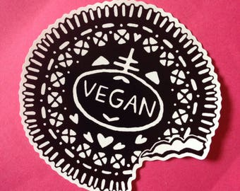 Vegan sticker / Oreo / Vegetarian / Gift