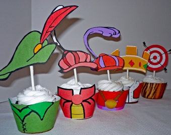 Robin Hood Instant Download Cupcake Wrappers and Toppers