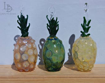 Hand Blown Glass Pineapples Ornaments Sun-Catchers Welcome Gifts Decor
