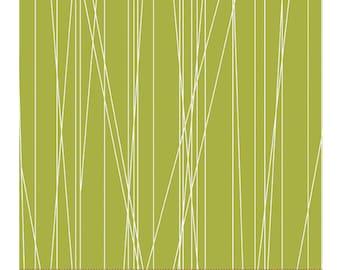 Green Web Fabric, Fat Quarter, Fresh Bloom by Michele D'Amore for Benartex