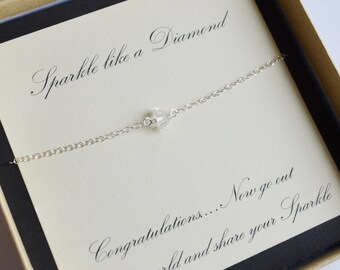 Graduation Gift...Herkimer Diamond and Sterling Silver Necklace