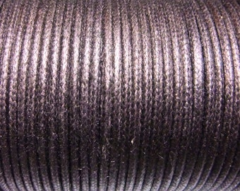 100 meters cotton cord 1mm Brown CH080