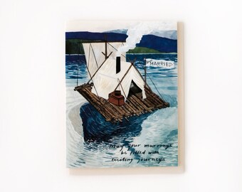 Just Married Raft Card