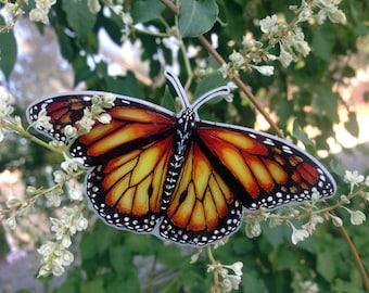 Monarch butterfly brooch