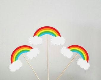 Rainbow Centerpieces