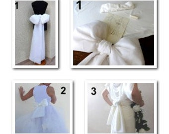BOW BELT Removable Tailored Custom/ Made to Order /#Wedding_Bow_Belt / Bridal Accessories / Robe de mariée