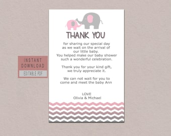 Editable Thank You Card ...