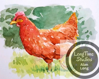 Rhode Island Red Digital Print