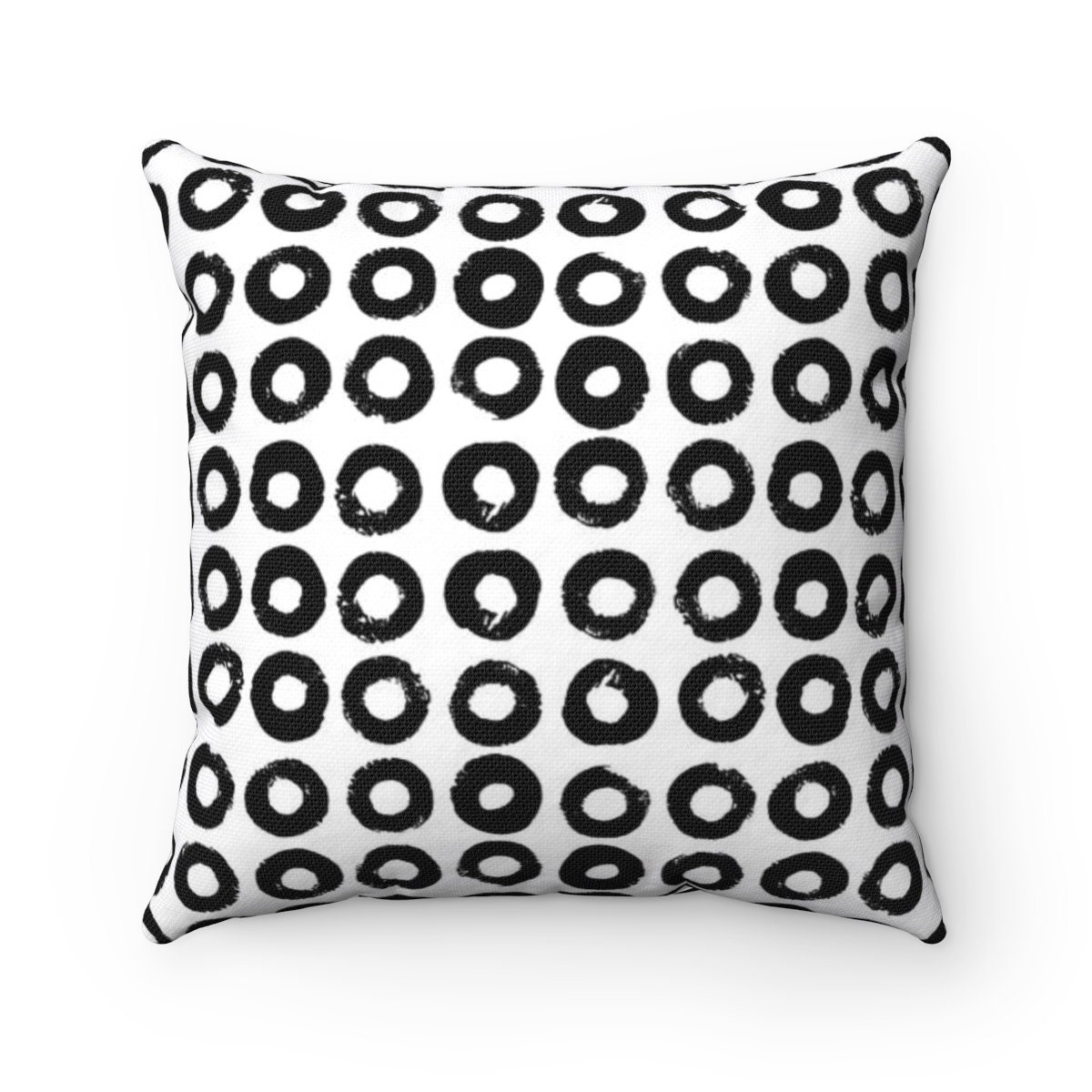 black and white throw pillow black white pillow modern cushion black lumbar pillow. Black Bedroom Furniture Sets. Home Design Ideas