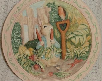 Vintage Davenport Pottery Beatrix Potter 3D Tale of Peter Rabbit Plate #6332A Vintage Beatrix Potter & Peter rabbit plate   Etsy