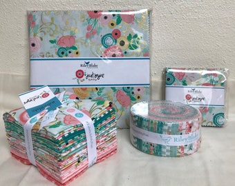 "Just Sayin' by Jen Allyson - My Mind's Eye - Riley Blake - Layer Cake 10"" Stackers/Squares - C"