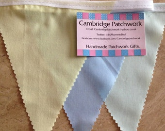 Fabric Mixed Colour Bunting ideal for Weddings, Birthdays, Baby Showers and other events