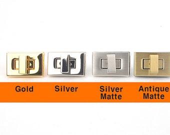 Square Twist Mini Lock Closure,Turn Lock / Slide Lock,suitcase buckle,Bag Making Suppliers Leather craft tools MLT-1064
