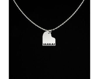 Piano Necklace - Music Teacher Gift - Piano Teacher Gift - Piano Teacher Necklace - Music Teacher Necklace - Grand Piano