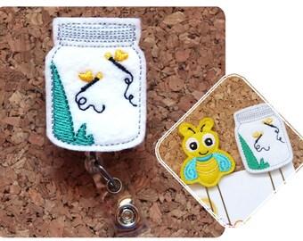 Firefly Badge Reel, Id Card Holder, Lightning Bug Retractable Felt Badge Holder, Bug Jar Lanyard, Planner Clip, Magnet, Bookmark, Pin, 896