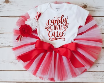 """Candy Cane Cutie outfit """"Ava"""" Toddler Christmas outfit baby Christmas outfit first Christmas tutu outfit girl Christmas outfit for girls"""