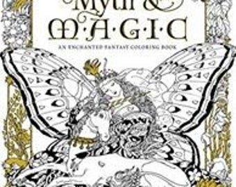 Myth & MAGIC by kinuko craft - coloring book for anti stress
