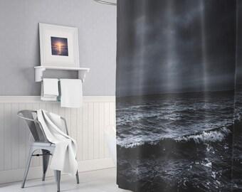 Powerful Sea Shower Curtain, Ocean Shower Curtains, Nature Shower Curtain, Indie Bathroom Decor, Boho Bath Decor, Shower Decor, Gifts, Indie