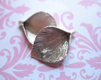 Sterling Silver CALLA LILY Pendants Charms Bead Caps Cones, Flower, 18.5x12 mm, artisan brides bridal art hp
