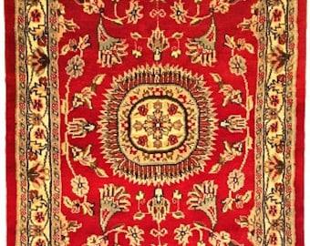 Persian Aina Gul Hand Knotted Silk Wool Rug