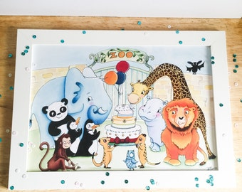 Zoo Party - A4 Print for children and grown ups too!