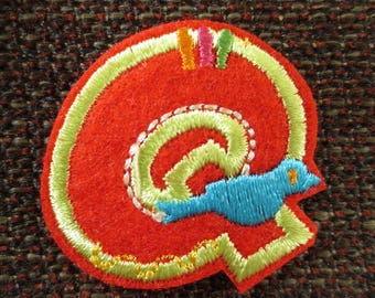 """Fusible letter """"Q"""" to apply or sewing"""