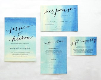 Printable Wedding Invitation - Signed With Love / Classic Calligraphic DIY Wedding Suite