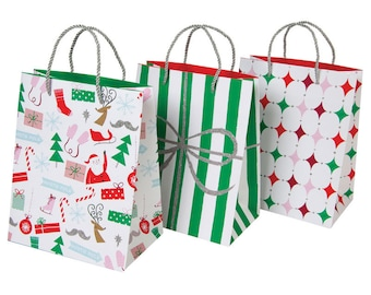 Paper Bags | Gift Bags | Christmas Wrapping | Christmas Gift Bags | 3 Per Set | Gift Wrapping