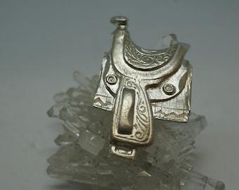 Sterling Silver Saddle Pendant
