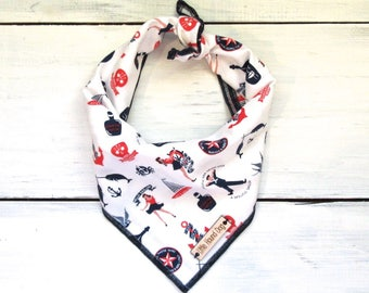 Navy Blue Hello Sailor Nautical Dog Bandana