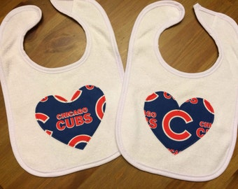 Chicago Cubs Heart Bib