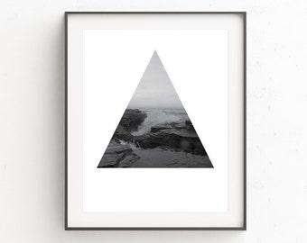 Wall Decor, Beach Decor, Black and White, Beach Print Decor, Ocean, Beach Home Wall Art, Ocean Photography, Beach Photography, Ocean Print