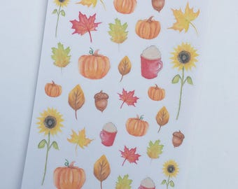 Fall Deco Planner Stickers