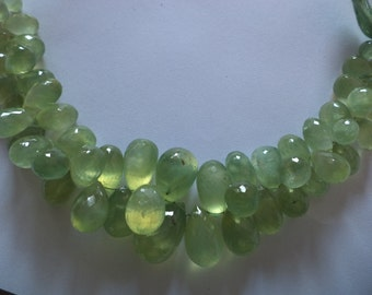 prehnite faceted tear dropes