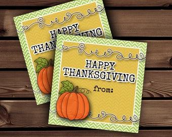 Thanksgiving Tags, Thanksgiving Card, Thanksgiving Treat Tags, Printable Thanksgiving Tags, Thanksgiving Favor, Happy Thanksgiving Printable
